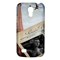 French Postcard Vintage Paris Eiffel Tower Samsung Galaxy S4 Mini Hardshell Case  by chicelegantboutique