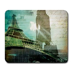 Modern Shopaholic Girl  Paris Eiffel Tower Art  Large Mouse Pad (rectangle) by chicelegantboutique