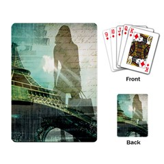 Modern Shopaholic Girl  Paris Eiffel Tower Art  Playing Cards Single Design by chicelegantboutique
