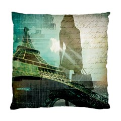 Modern Shopaholic Girl  Paris Eiffel Tower Art  Cushion Case (single Sided)  by chicelegantboutique