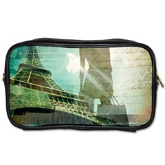 Modern Shopaholic Girl  Paris Eiffel Tower Art  Travel Toiletry Bag (one Side) by chicelegantboutique