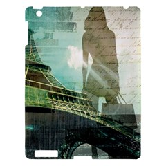 Modern Shopaholic Girl  Paris Eiffel Tower Art  Apple Ipad 3/4 Hardshell Case by chicelegantboutique