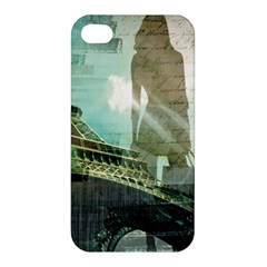 Modern Shopaholic Girl  Paris Eiffel Tower Art  Apple Iphone 4/4s Premium Hardshell Case