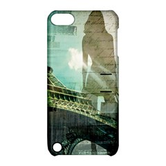 Modern Shopaholic Girl  Paris Eiffel Tower Art  Apple Ipod Touch 5 Hardshell Case With Stand by chicelegantboutique