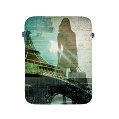 Modern Shopaholic Girl  Paris Eiffel Tower Art  Apple Ipad 2/3/4 Protective Soft Case