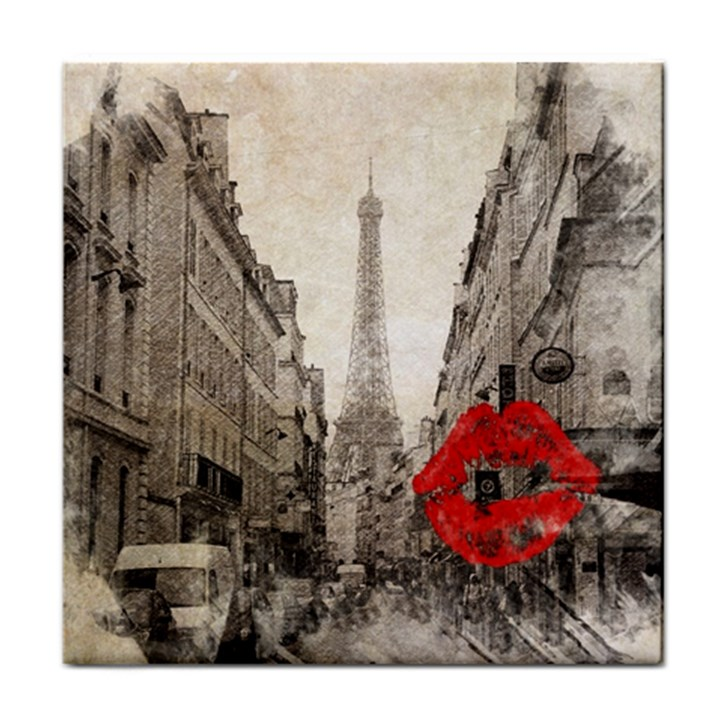 Elegant Red Kiss Love Paris Eiffel Tower Face Towel