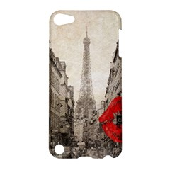 Elegant Red Kiss Love Paris Eiffel Tower Apple Ipod Touch 5 Hardshell Case