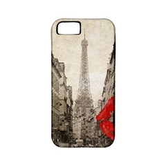 Elegant Red Kiss Love Paris Eiffel Tower Apple Iphone 5 Classic Hardshell Case (pc+silicone) by chicelegantboutique