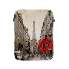 Elegant Red Kiss Love Paris Eiffel Tower Apple Ipad 2/3/4 Protective Soft Case by chicelegantboutique