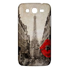Elegant Red Kiss Love Paris Eiffel Tower Samsung Galaxy Mega 5 8 I9152 Hardshell Case  by chicelegantboutique