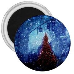 Elegant Winter Snow Flakes Gate Of Victory Paris France 3  Button Magnet