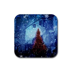 Elegant Winter Snow Flakes Gate Of Victory Paris France Drink Coaster (square)