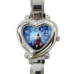 Elegant Winter Snow Flakes Gate Of Victory Paris France Heart Italian Charm Watch  by chicelegantboutique