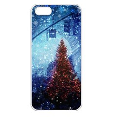 Elegant Winter Snow Flakes Gate Of Victory Paris France Apple Iphone 5 Seamless Case (white) by chicelegantboutique