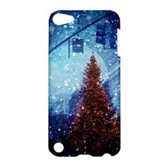 Elegant Winter Snow Flakes Gate Of Victory Paris France Apple Ipod Touch 5 Hardshell Case by chicelegantboutique