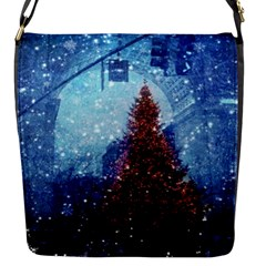 Elegant Winter Snow Flakes Gate Of Victory Paris France Flap Closure Messenger Bag (small) by chicelegantboutique
