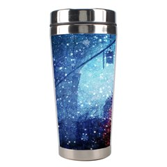 Elegant Winter Snow Flakes Gate Of Victory Paris France Stainless Steel Travel Tumbler by chicelegantboutique