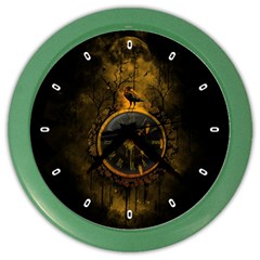 Time Is Gold Wall Clock (color)