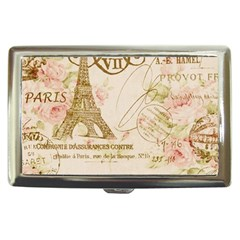 Floral Eiffel Tower Vintage French Paris Art Cigarette Money Case