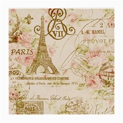 Floral Eiffel Tower Vintage French Paris Art Glasses Cloth (medium) by chicelegantboutique
