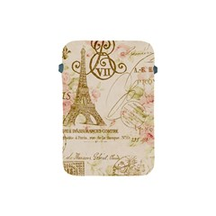 Floral Eiffel Tower Vintage French Paris Art Apple Ipad Mini Protective Soft Case by chicelegantboutique