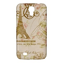 Floral Eiffel Tower Vintage French Paris Art Samsung Galaxy Mega 6 3  I9200 by chicelegantboutique