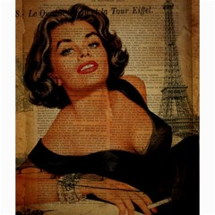 Vintage Newspaper Print Pin Up Girl Paris Eiffel Tower Canvas 20  X 20  (unframed) by chicelegantboutique
