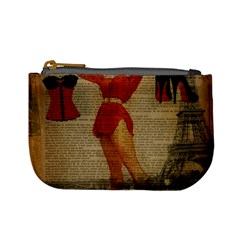 Vintage Newspaper Print Sexy Hot Gil Elvgren Pin Up Girl Paris Eiffel Tower Western Country Naughty  Coin Change Purse by chicelegantboutique