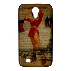 Vintage Newspaper Print Sexy Hot Gil Elvgren Pin Up Girl Paris Eiffel Tower Western Country Naughty  Samsung Galaxy Mega 6 3  I9200 by chicelegantboutique