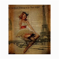 Cute Sweet Sailor Dress Vintage Newspaper Print Sexy Hot Gil Elvgren Pin Up Girl Paris Eiffel Tower Canvas 20  X 24  (unframed) by chicelegantboutique