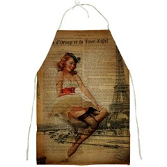 Cute Sweet Sailor Dress Vintage Newspaper Print Sexy Hot Gil Elvgren Pin Up Girl Paris Eiffel Tower Apron by chicelegantboutique