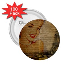 Yellow Dress Blonde Beauty   2 25  Button (100 Pack) by chicelegantboutique