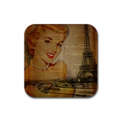 Yellow Dress Blonde Beauty   Drink Coasters 4 Pack (square) by chicelegantboutique