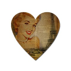 Yellow Dress Blonde Beauty   Magnet (heart) by chicelegantboutique