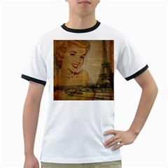 Yellow Dress Blonde Beauty   Mens' Ringer T Shirt