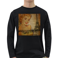 Yellow Dress Blonde Beauty   Mens' Long Sleeve T-shirt (dark Colored)
