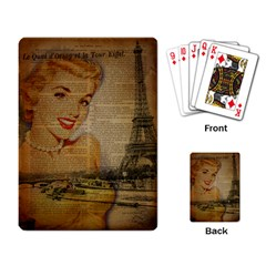 Yellow Dress Blonde Beauty   Playing Cards Single Design