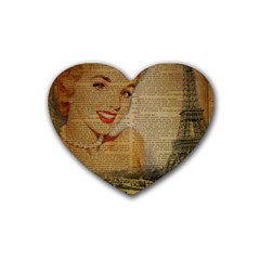 Yellow Dress Blonde Beauty   Drink Coasters (heart) by chicelegantboutique