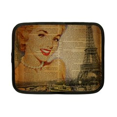 Yellow Dress Blonde Beauty   Netbook Case (small)