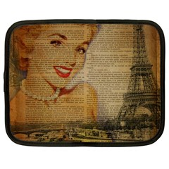 Yellow Dress Blonde Beauty   Netbook Case (large)