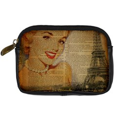 Yellow Dress Blonde Beauty   Digital Camera Leather Case by chicelegantboutique