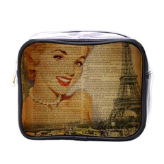 Yellow Dress Blonde Beauty   Mini Travel Toiletry Bag (one Side)