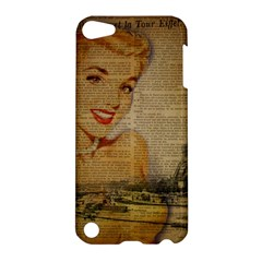 Yellow Dress Blonde Beauty   Apple Ipod Touch 5 Hardshell Case by chicelegantboutique