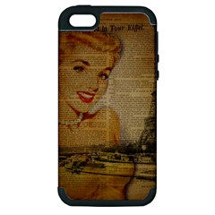 Yellow Dress Blonde Beauty   Apple Iphone 5 Hardshell Case (pc+silicone) by chicelegantboutique