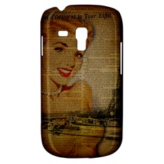 Yellow Dress Blonde Beauty   Samsung Galaxy S3 Mini I8190 Hardshell Case