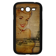 Yellow Dress Blonde Beauty   Samsung I9082(galaxy Grand Duos)(black)