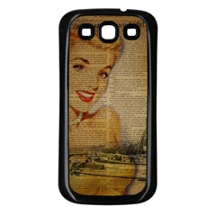 Yellow Dress Blonde Beauty   Samsung Galaxy S3 Back Case (black) by chicelegantboutique
