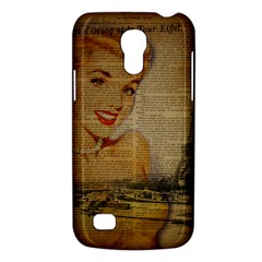 Yellow Dress Blonde Beauty   Samsung Galaxy S4 Mini Hardshell Case  by chicelegantboutique