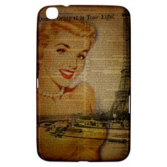 Yellow Dress Blonde Beauty   Samsung Galaxy Tab 3 (8 ) T3100 Hardshell Case