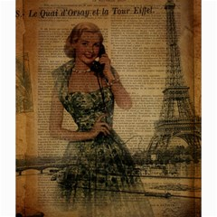 Retro Telephone Lady Vintage Newspaper Print Pin Up Girl Paris Eiffel Tower Canvas 20  X 20  (unframed)